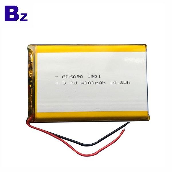 606090 4000mAh 3.7V Li-Polymer Battery