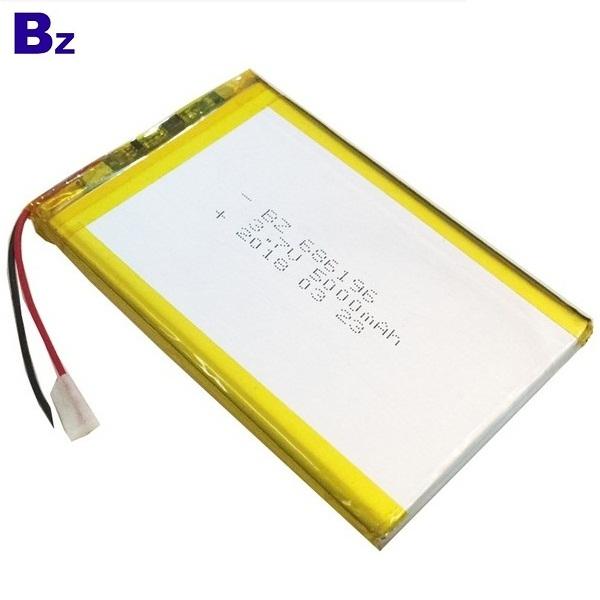 686196 5000mah 3.7V Li-polymer Battery