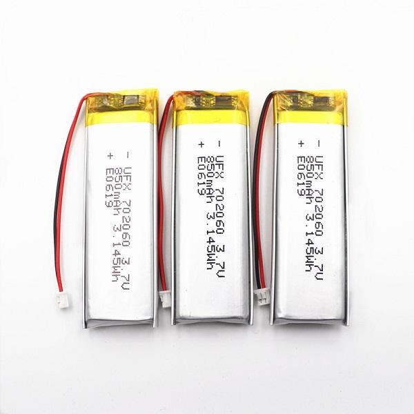 702060 3.7V 850mAh Lipo battery