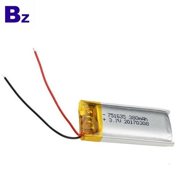 380mAh Li-Polymer Battery With KC Certification