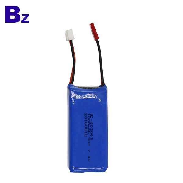 803063 1000mah 7.4V 30C Rechargeable LiPo Battery Pack