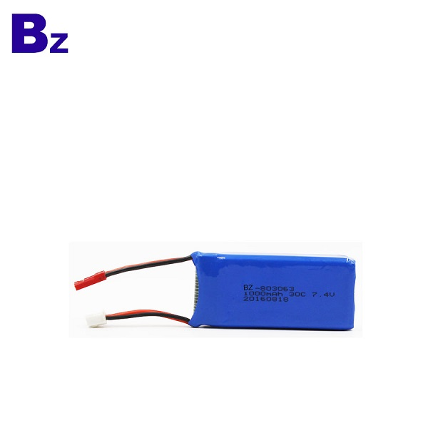 7.4V 30C Rechargeable LiPo Battery Pack