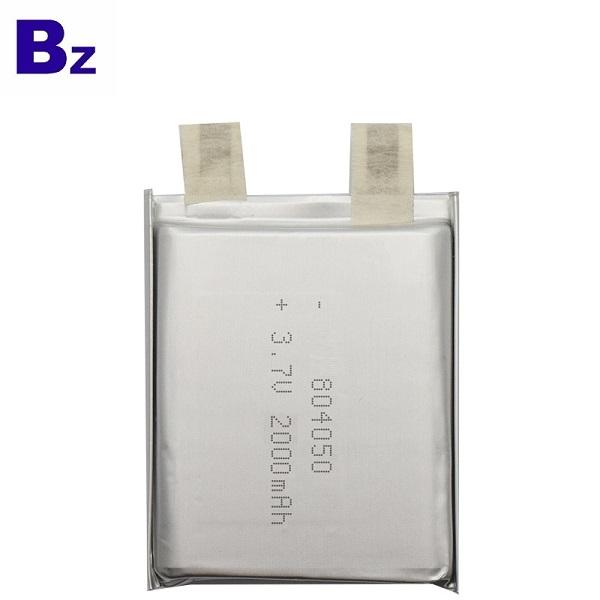 2000mAh Li-Polymer Battery With UL Certification