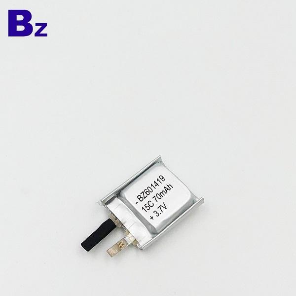 70mAh 3.7V  Lithium Polymer Battery