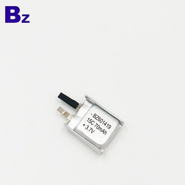 601419-15C 70mAh 3.7V  Lithium Polymer Battery
