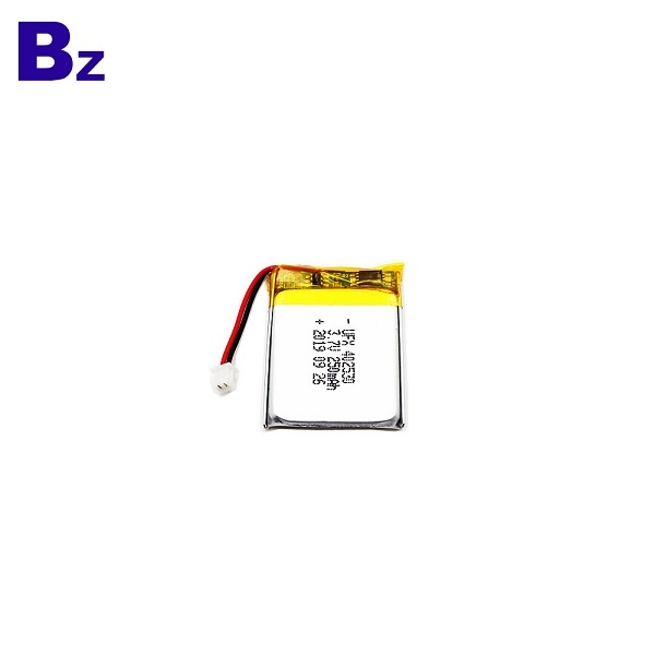 250mAh Li-Polymer Battery With Wire And Plug