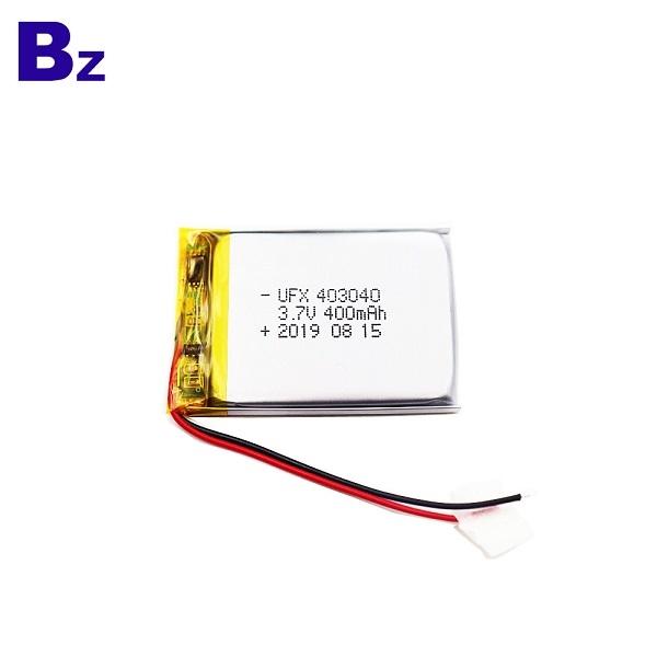403040 400mAh 3.7V Li-Polymer Battery