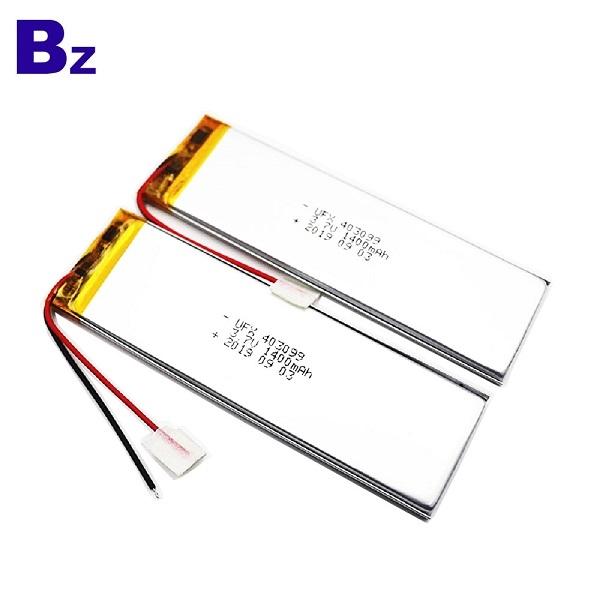 Customized 1400mAh Li-Polymer Battery