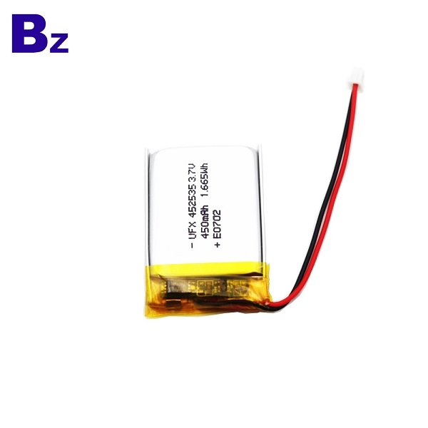 450mAh Li Polymer Battery With Wire And Plug