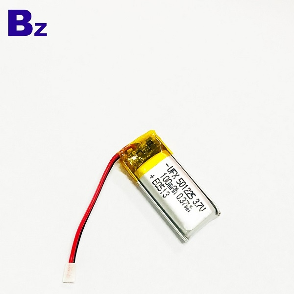 100mAh Li-Polymer Battery With Wire And Plug
