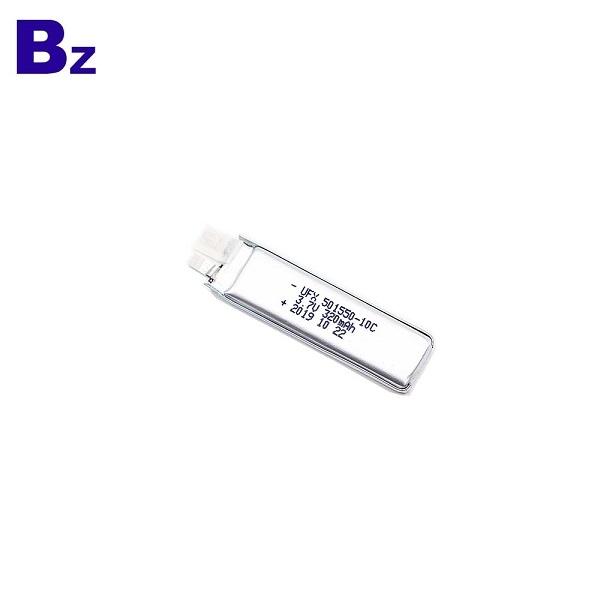 501550-10C 3.7V 320mAh Li-Polymer Battery