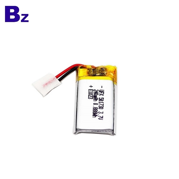 501730 3.7V 240mAh Li-Polymer Battery