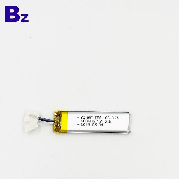 480mAh Li-Polymer Battery With Wire