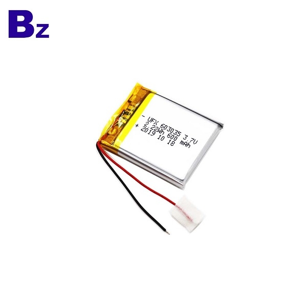Factory Supply 600mAh Li-Po Battery With Wire