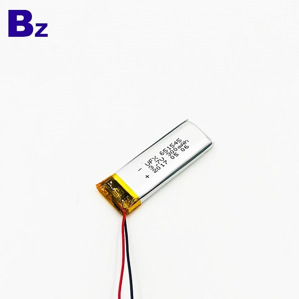 300mAh Li-Polymer Battery With Wire