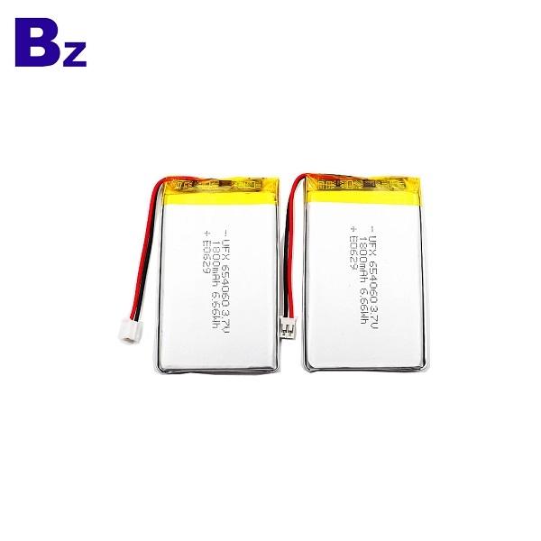 654060 1800mAh 3.7V Li Polymer Battery