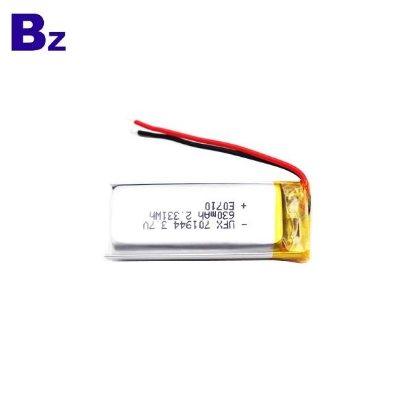 630mAh Li-Polymer Battery With Wire