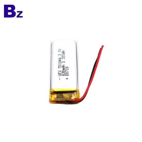 701944 630mAh 3.7V Li-Polymer Battery