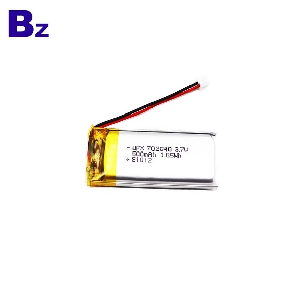 702040 3.7V 500mAh Lithium Polymer Battery