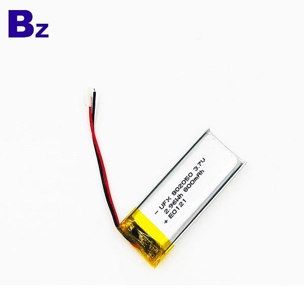 802050 800mAh 3.7V Lithium Polymer Battery