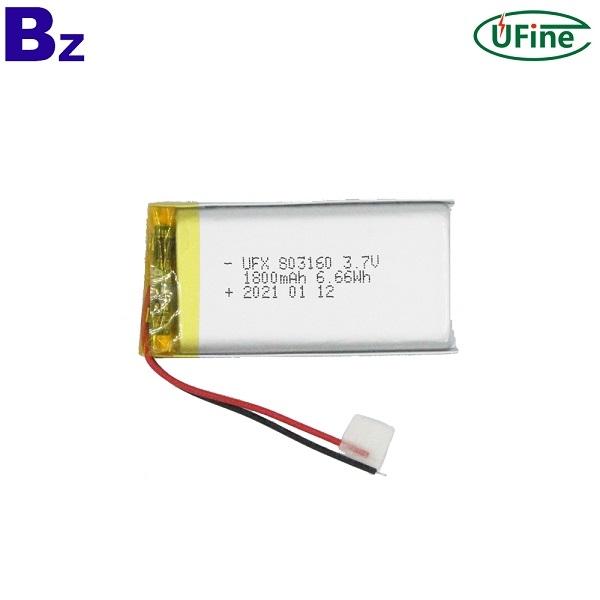 China Best Battery Factory Wholesale 1800mAh Lipo Battery