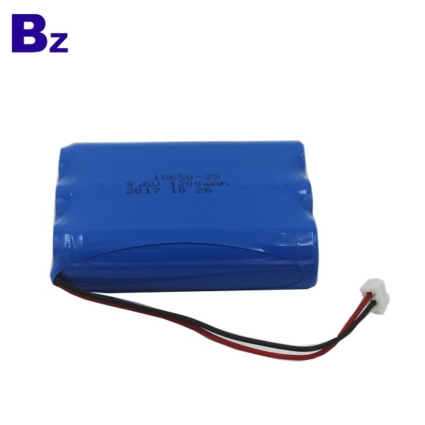 18650-3S 1200mAh 9.6V Rechargeable LiFePO4 Battery Pack