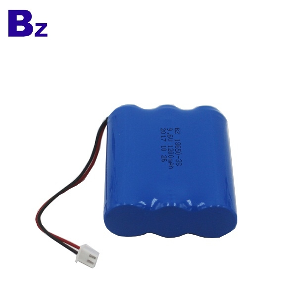 1200mAh 9.6V Rechargeable LiFePO4 Battery Pack
