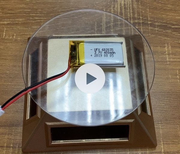 602035 400mAh 3.7V Li-ion Battery with UL + KC Certification